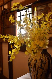 大正村資料館の花